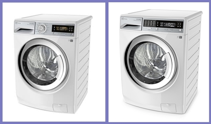 (L) EWF12732 with 7kg capacity (R) EWW14012 with 7 or 10kg capacity, with both washing and drying capacity