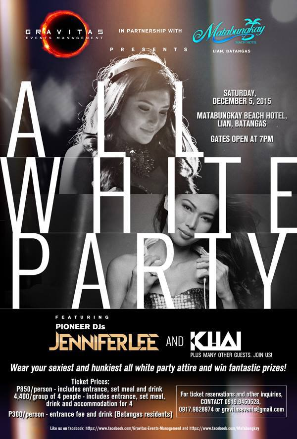 gravitas all white party